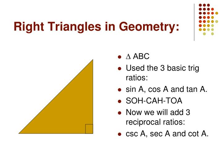 Right Triangles in Geometry: