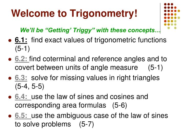welcome to trigonometry n.