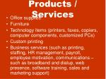 products services
