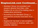 stapleslink com continued