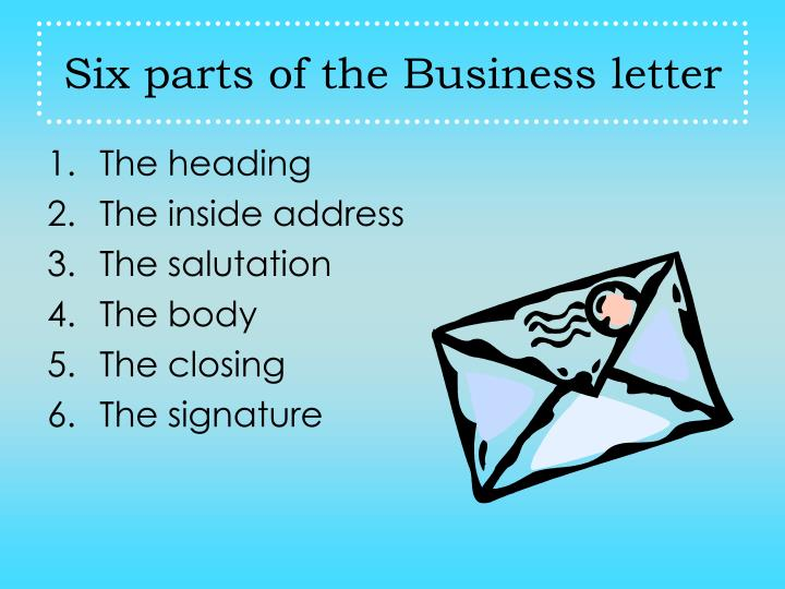 business letter ppt