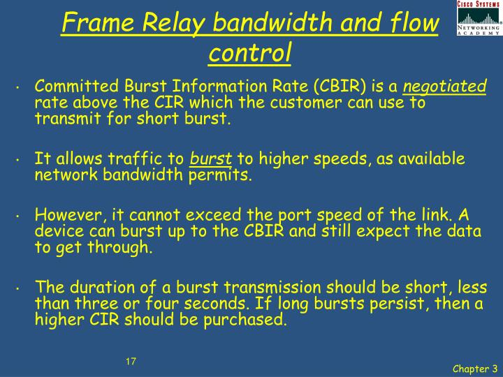 Frame Relay bandwidth and flow control