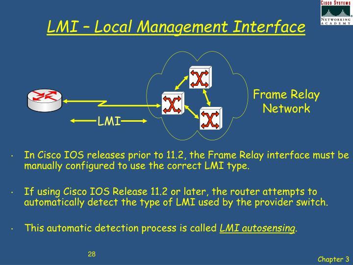 LMI – Local Management Interface