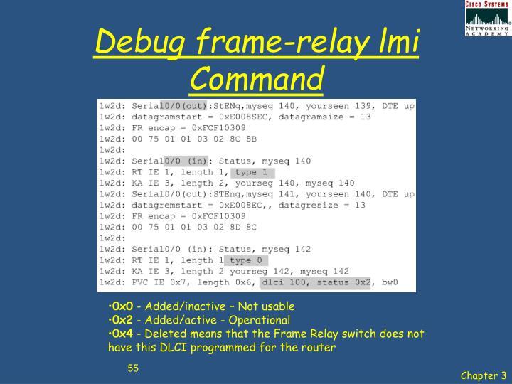 Debug frame-relay lmi Command