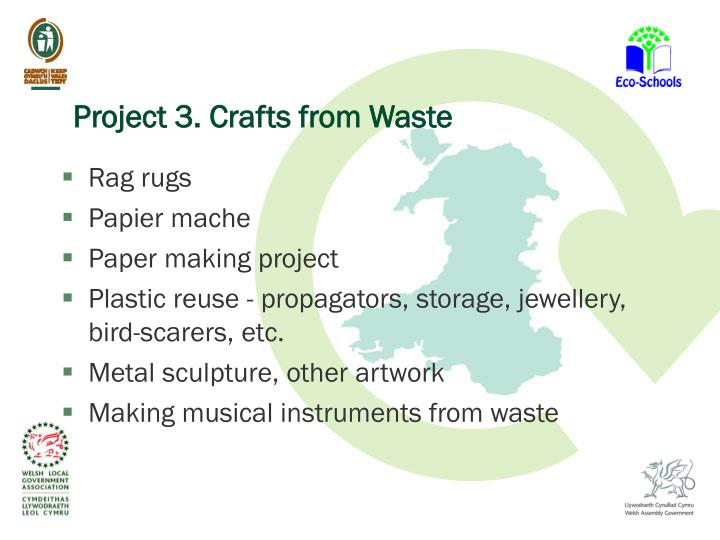 Ppt litter and waste minimisation in schools keep wales for Craftwork from waste