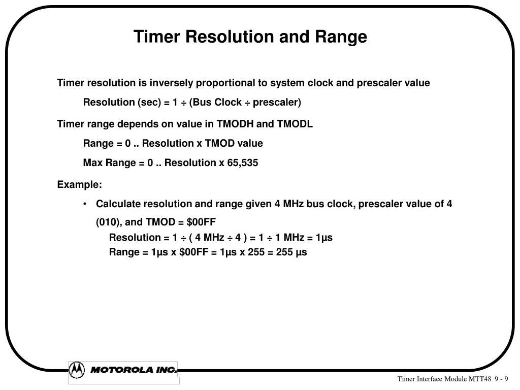 PPT - TIMER INTERFACE MODULE (TIM) PowerPoint Presentation - ID:5192185