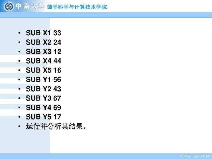 SUB X1 33