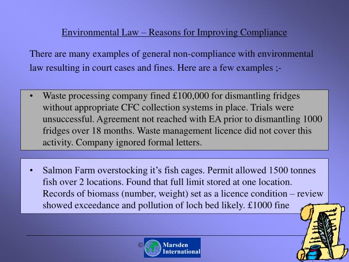Environmental Law – Reasons for Improving Compliance