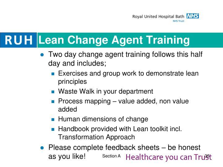 Lean Change Agent Training