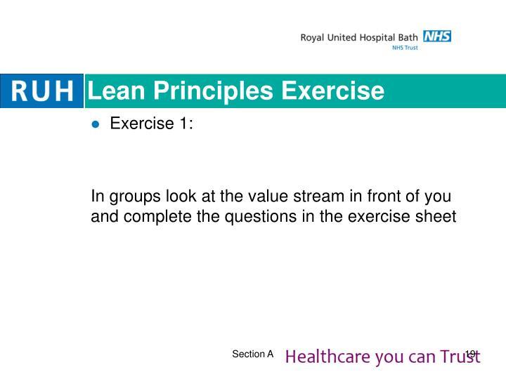 Lean Principles Exercise