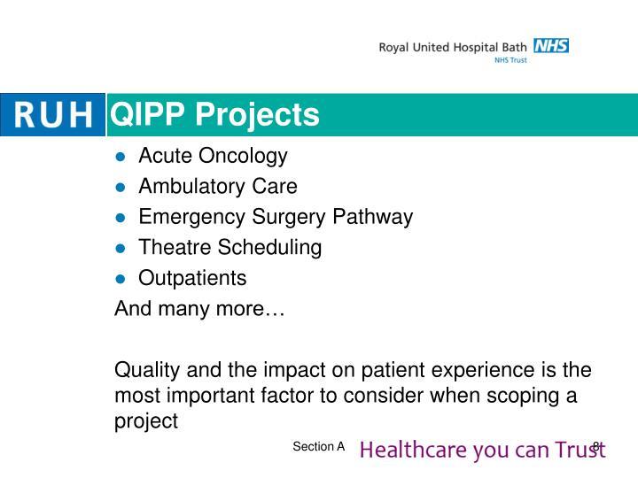 QIPP Projects