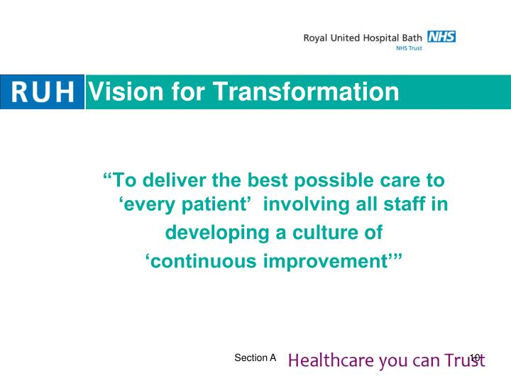 Vision for Transformation