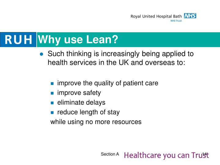 Why use Lean?