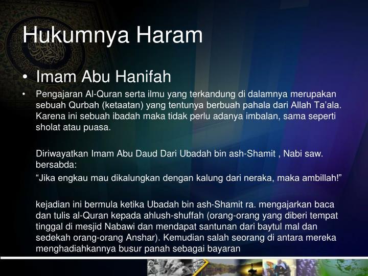 Hukumnya Haram