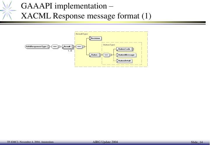 GAAAPI implementation –