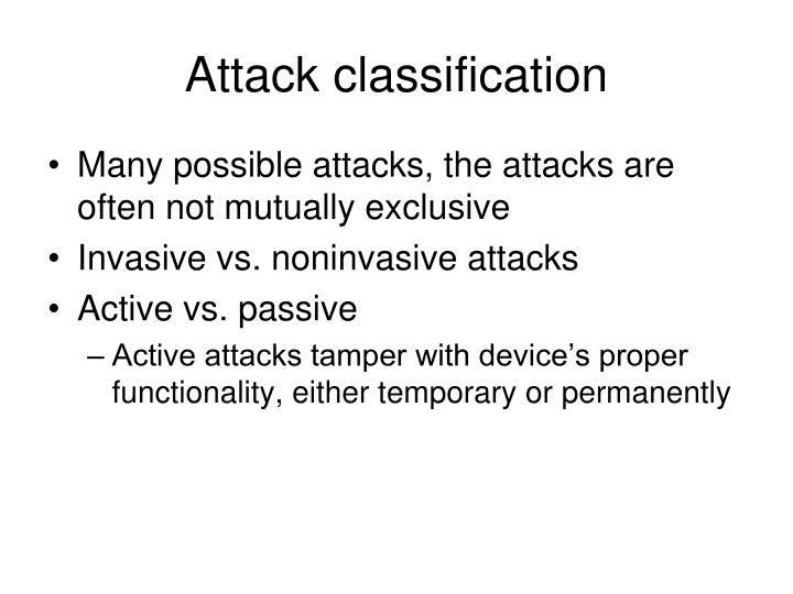 Attack classification