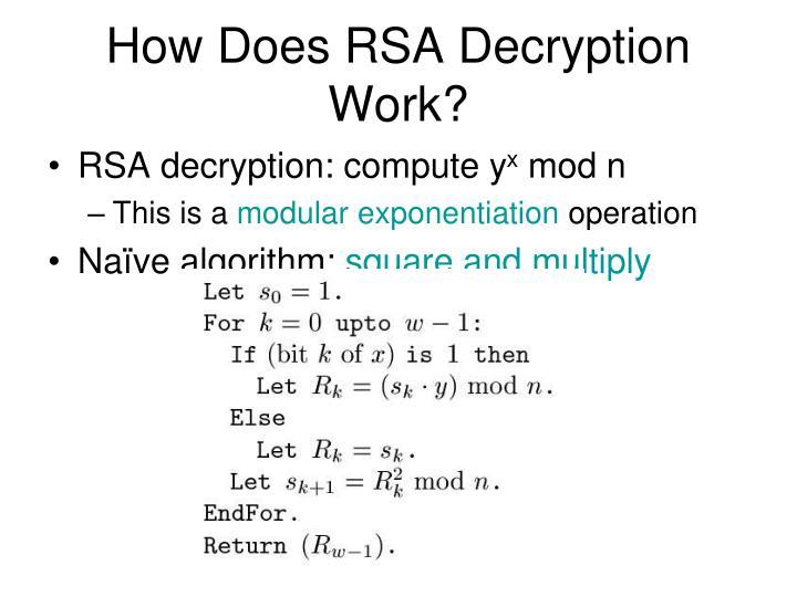 How Does RSA Decryption Work?