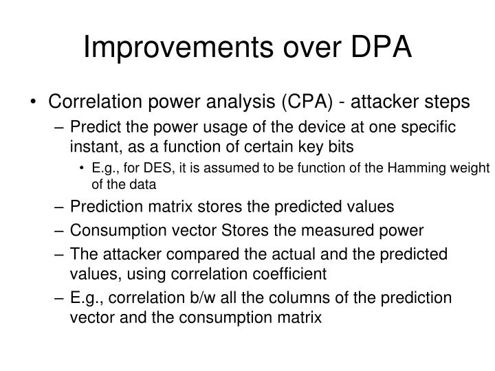 Improvements over DPA
