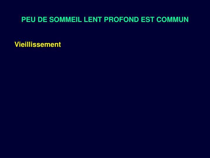 PEU DE SOMMEIL LENT PROFOND EST COMMUN