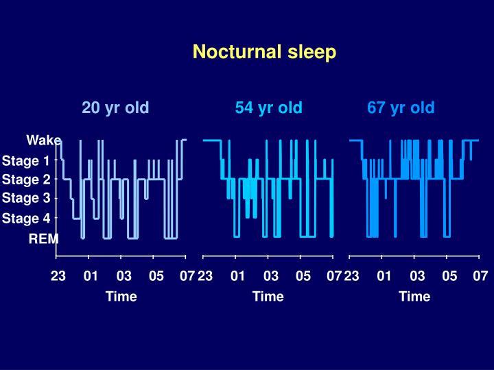 Nocturnal sleep