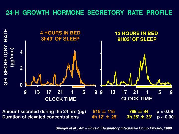24-H  GROWTH  HORMONE  SECRETORY  RATE  PROFILE