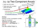 dh df two component ansatz