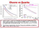 gluons vs quarks