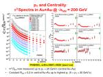 p t and centrality 0 spectra in au au @ s nn 200 gev