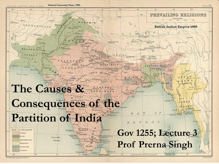 representation of partition of india in Echoes of the traumatic events surrounding the partition of india in 1947 can be heard to this day in the daily life of the subcontinent each time india and pakistan play a cricket match or when their political leaders speak of unfinished business.