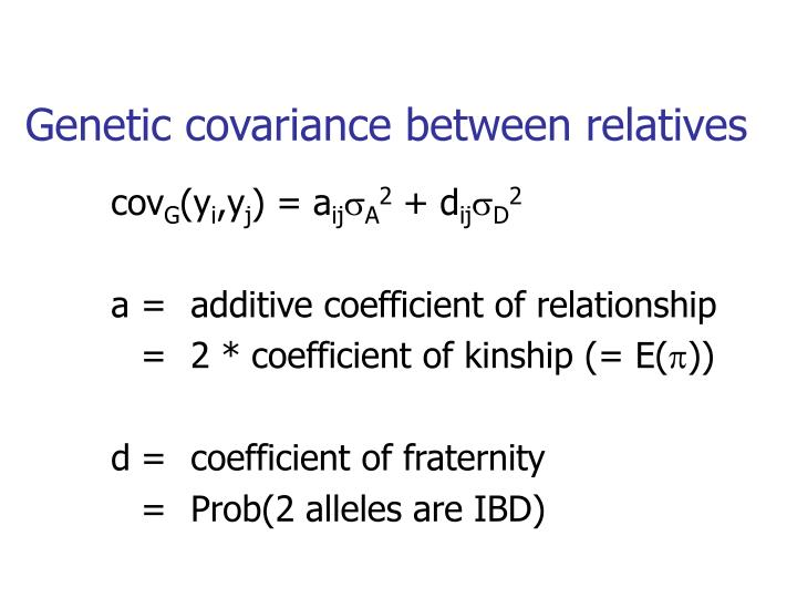 Genetic covariance between relatives