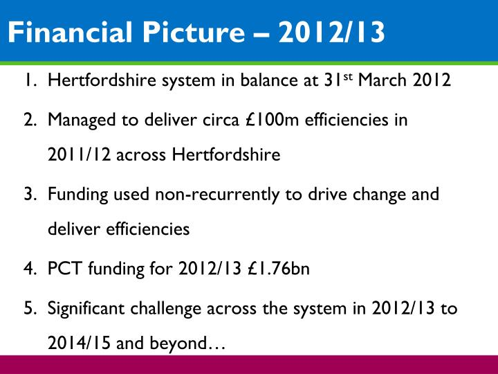 Hertfordshire system in balance at 31