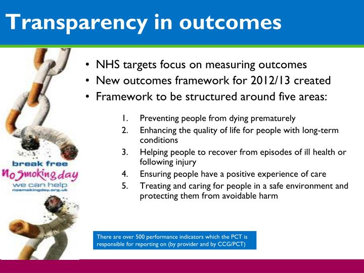 NHS targets focus on measuring outcomes