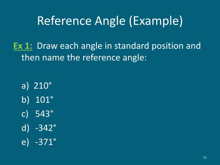 Reference Angle (Example)