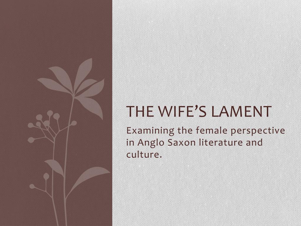 wifes lament