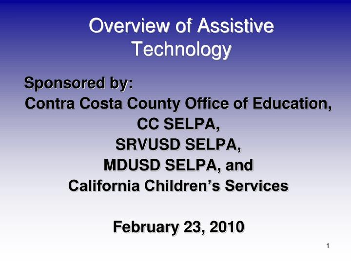overview of assistive technology n.