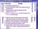 table historical type of society by karl marx