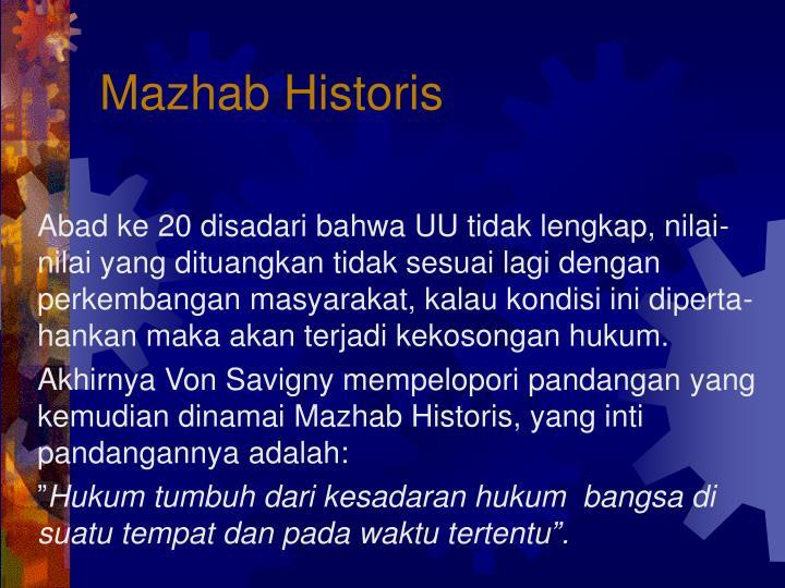 Mazhab Historis