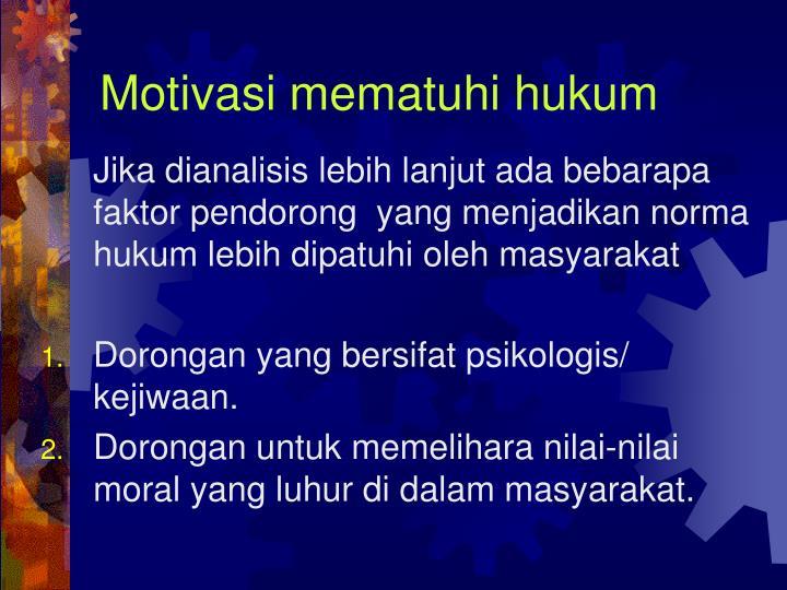 Motivasi mematuhi hukum
