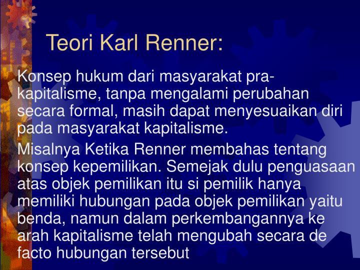 Teori Karl Renner: