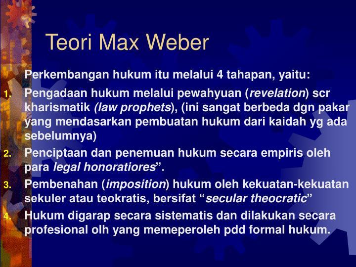 Teori Max Weber
