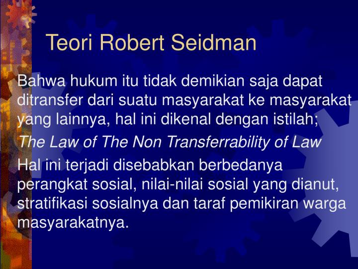 Teori Robert Seidman
