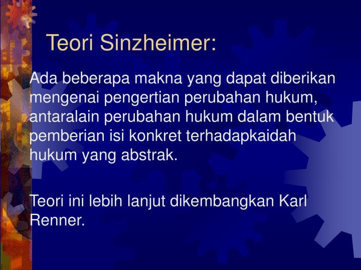 Teori Sinzheimer: