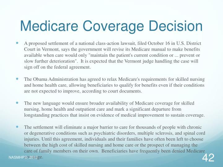 Medicare Coverage Decision