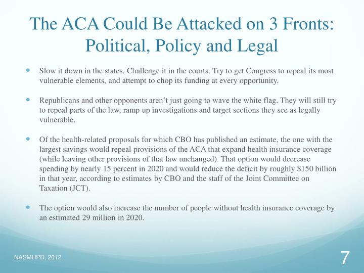 The ACA Could Be Attacked on 3 Fronts: