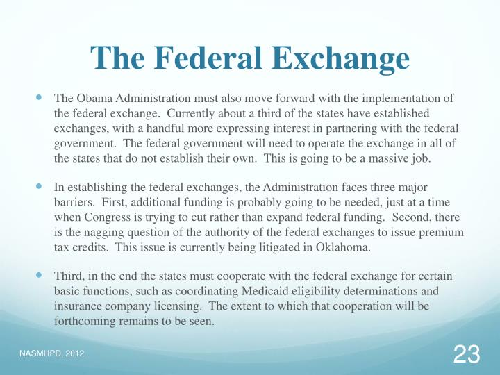 The Federal Exchange