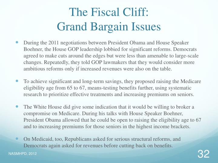 The Fiscal Cliff: