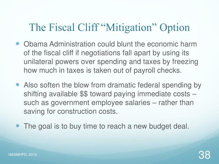 """The Fiscal Cliff """"Mitigation"""" Option"""