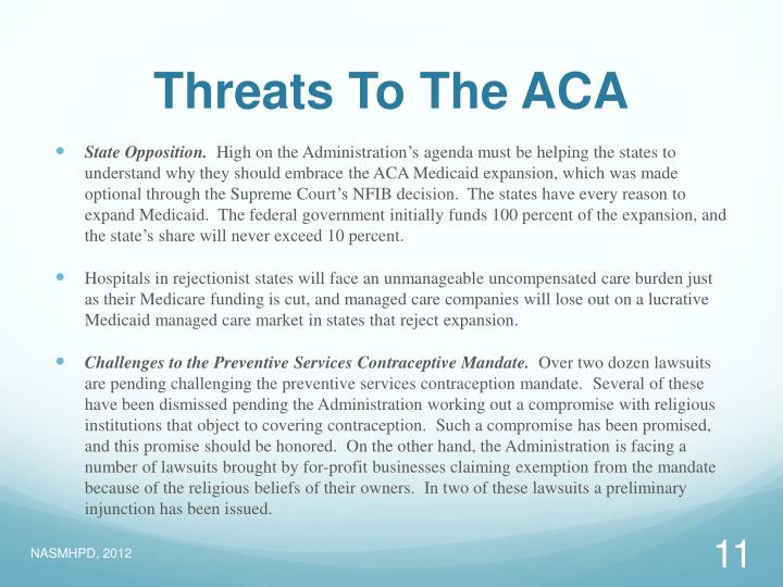 Threats To The ACA