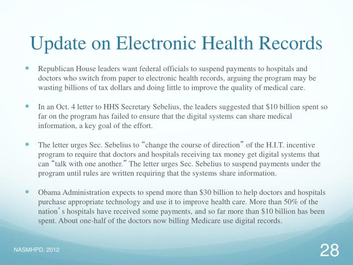 Update on Electronic Health Records