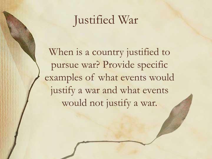 Justified war